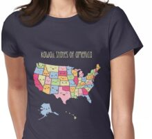 Kawaii States of America Womens Fitted T-Shirt