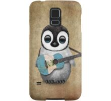 Baby Penguin Playing Guatemalan Flag Guitar Samsung Galaxy Case/Skin