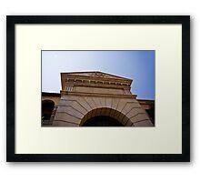 Front Door Facade Framed Print