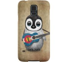 Baby Penguin Playing Colorado Flag Guitar Samsung Galaxy Case/Skin