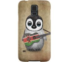 Baby Penguin Playing Kenyan Flag Guitar Samsung Galaxy Case/Skin