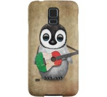 Baby Penguin Playing Italian Flag Guitar Samsung Galaxy Case/Skin