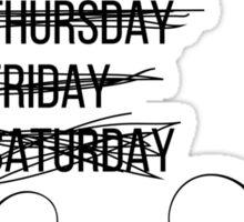 Procrastinating Someday Days of the Week Sticker