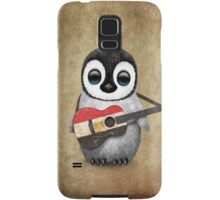 Baby Penguin Playing Egyptian Flag Guitar Samsung Galaxy Case/Skin
