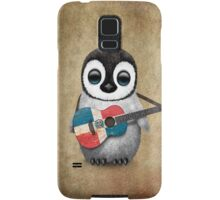 Baby Penguin Playing Dominican Republic Flag Guitar Samsung Galaxy Case/Skin