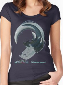 RAAF Hornet Wing Warp T-shirt Design Women's Fitted Scoop T-Shirt