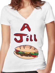 Resident Evil Remake - Jill Sandwich Women's Fitted V-Neck T-Shirt