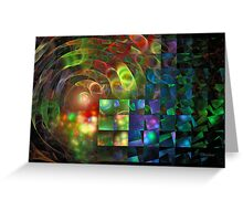 'When Light Meets Illusion' Greeting Card