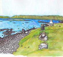 Kirkjubour, Faroe Islands by soletlune