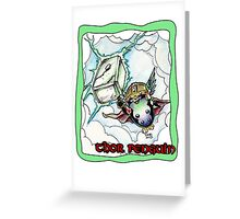 Thor Penguin Greeting Card