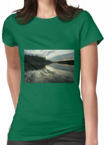 Sun Behind The Clouds Womens Fitted T-Shirt
