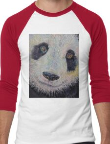 Panda Portrait Men's Baseball ¾ T-Shirt