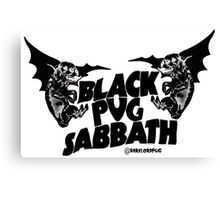 black pug sabbath Canvas Print