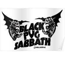 black pug sabbath Poster