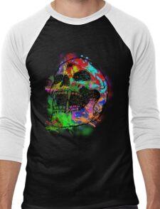 Colorful Skull Men's Baseball ¾ T-Shirt