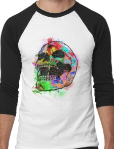 Colorful Skull Men's Baseball ¾ T-Shirt