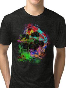 Colorful Skull Tri-blend T-Shirt