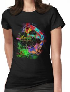Colorful Skull Womens Fitted T-Shirt