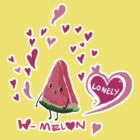 Lonely Watermelon by aini