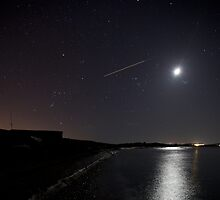 Orion over L'Ancresse Bay Guernsey by PhotoToasty