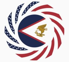 American Samoa Multinational Patriot Flag Series by Carbon-Fibre Media