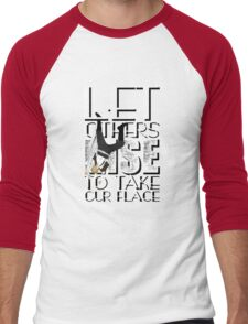 Until the earth is free - text version Men's Baseball ¾ T-Shirt