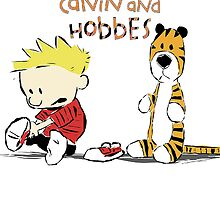 Calvin And Hobbes Babby by JackCustomArt