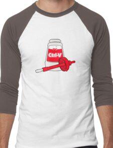 Nerd Paste Men's Baseball ¾ T-Shirt