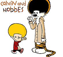 Calvin And Hobbes Duo Afro by JackCustomArt