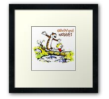 Calvin and hobbes funny Adventure Framed Print