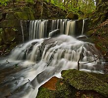 Jepson's Clough Waterfall by Steve  Liptrot