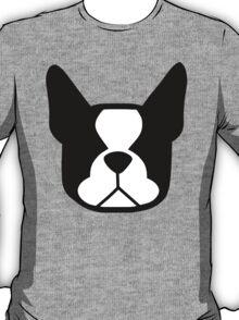 { boston terrier - black and white - smooshface united } T-Shirt