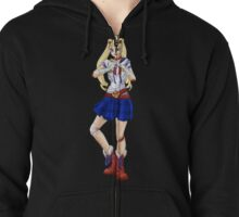 In the Name of the Moon... Zipped Hoodie