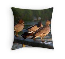 Threesome Throw Pillow