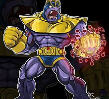 Machoke x Thanos by Aaron Morales