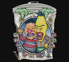 Evil Clown T Shirt Burt N' Ernie by bear77