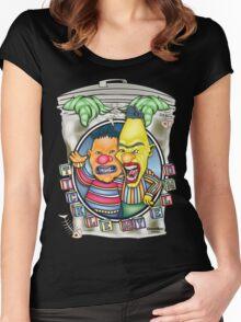Evil Clown T Shirt Burt N' Ernie Women's Fitted Scoop T-Shirt