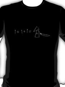 1 + 1 + 1 = pyramid head! T-Shirt