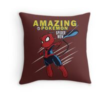 The Amazing Spider-Mew Throw Pillow