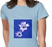 Summer Blues - Cape Daisies on Royal Blue Backgound Womens Fitted T-Shirt