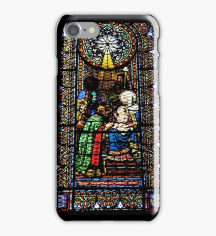 Santa Maria de Montserrat Abbey, Catalonia, Spain Stained Glass window  iPhone Case/Skin