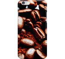 Freshly ground coffee and beans iPhone Case/Skin
