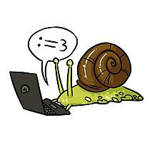 Snail Blogger Photographic Print