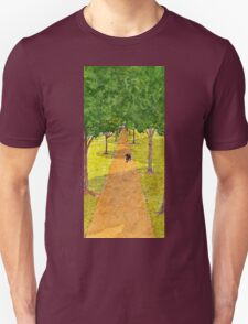 Dog Underneath the Shadow of Trees Unisex T-Shirt