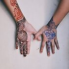 henna painted hands by fahad23