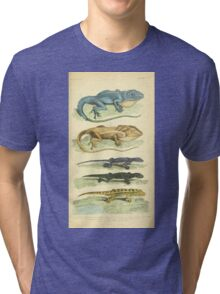 The Animal Kingdom by Georges Cuvier, PA Latreille, and Henry McMurtrie 1834 601 - Reptilia Reptiles Tri-blend T-Shirt