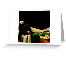 Deathconsciousness - The Death of Marat Greeting Card