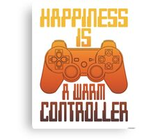 Happiness Is A warm Controller Canvas Print