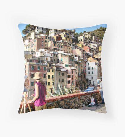 Pittura Riomaggiore I Throw Pillow