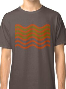 Waves Red Olive Green Black Classic T-Shirt